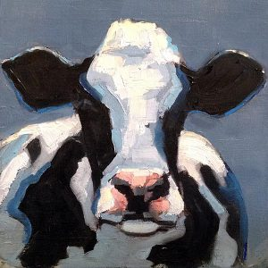 Betsy Schulthess painting of a cow