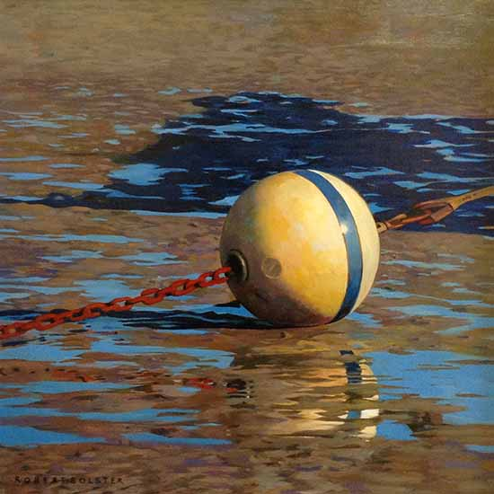 Robert Bolster painting American Ball & Chain low tide