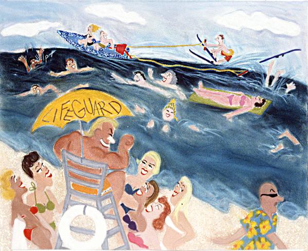 Randy Stevens painting of a Beach Scene