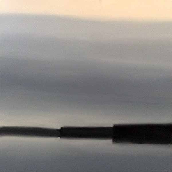 Dannielle Mick painting of coastline in fog Lake Chill