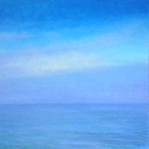Lynne Adams painting of blue sea and sky