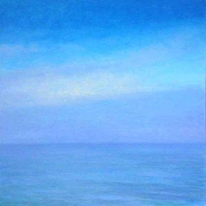 Lynne Adams painting of blue sea and sky