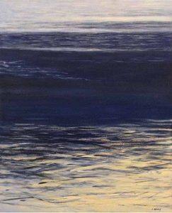 Lynne Adams painting of water with gentle waves