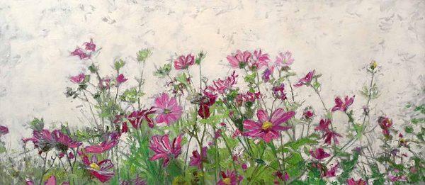 Lynne Adams painting of flowers in field