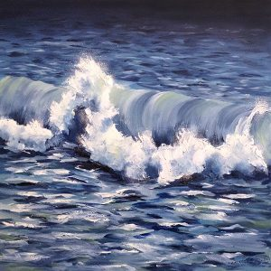 Dannielle Mick painting of cresting ocean wave