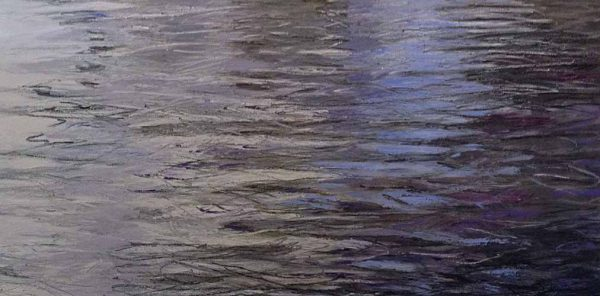 Lynne Adams painting of water with ripples
