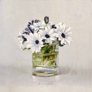 Patti Zeigler painting of flowers in a vase
