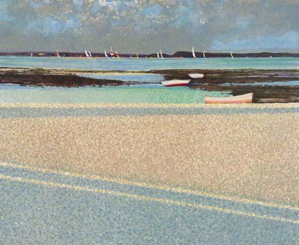 André Bourrié print of beach on slightly overcast day