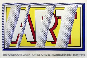 Roy Lichtenstein - Reflections: Art 1988 Screen Print