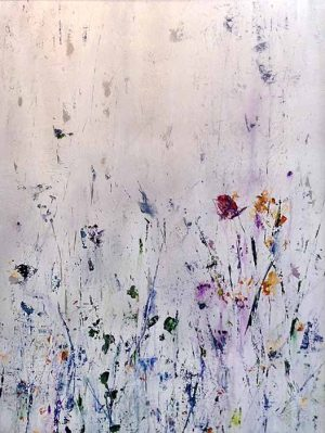 Jodi Maas painting of wildflowers on off white background