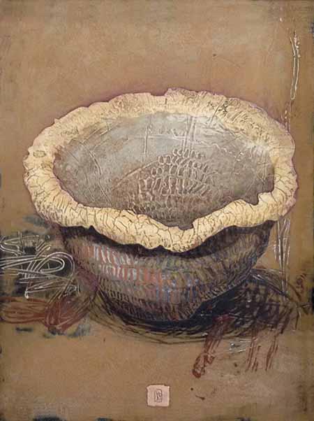 Ivo Stoyanov painting of stylized bowl
