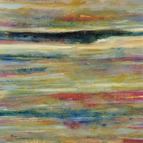 Helen Zarin abstract seascape with gold