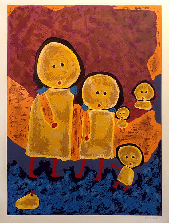 Giovanni Vetere print of yellow people