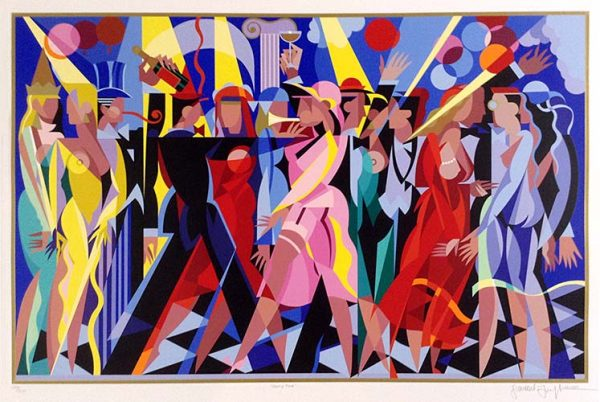 Giancarlo Impiglia Party Time print of party with fancy people dancing