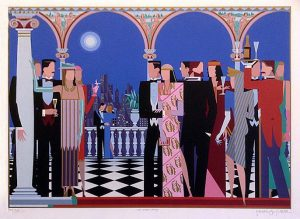 Giancarlo Impiglia The Grand Party print of party and romantic dancing