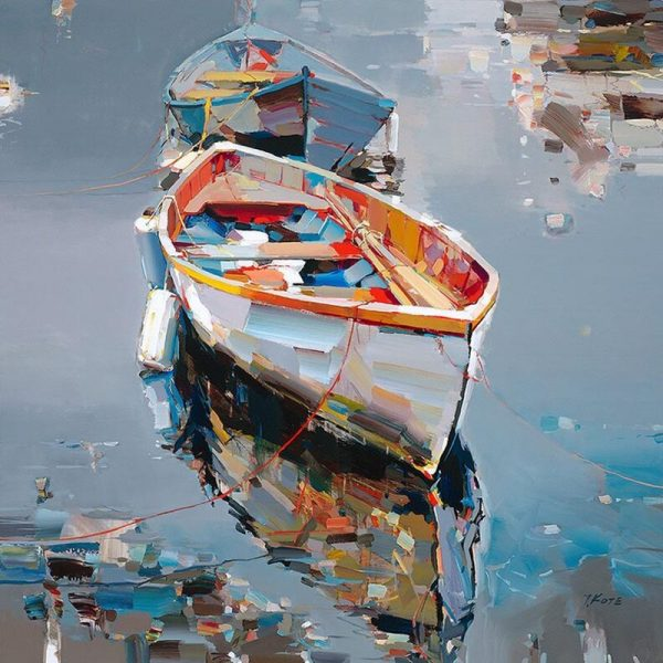 Josef Kote Direct Insight print of two boats on water