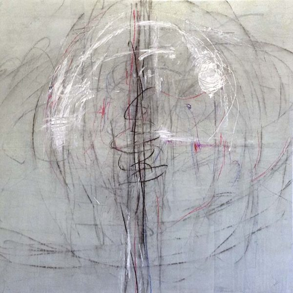 Karolina Vera Sussland painting of swirling lines in subdued colors