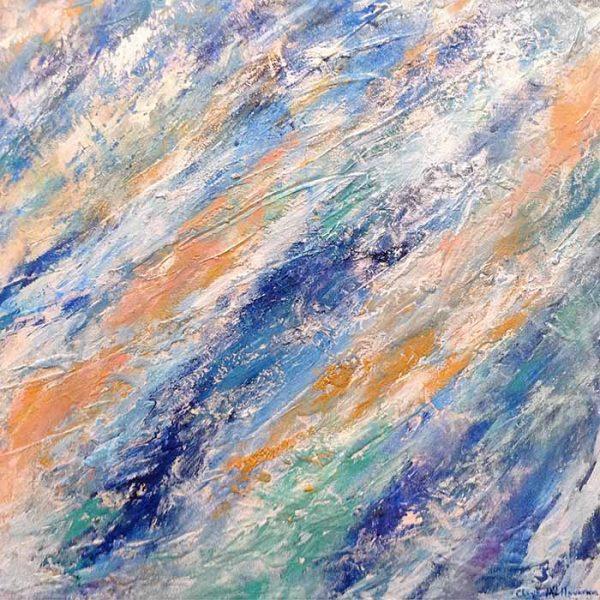 Chaya Mallavaram painting abstract flowing water