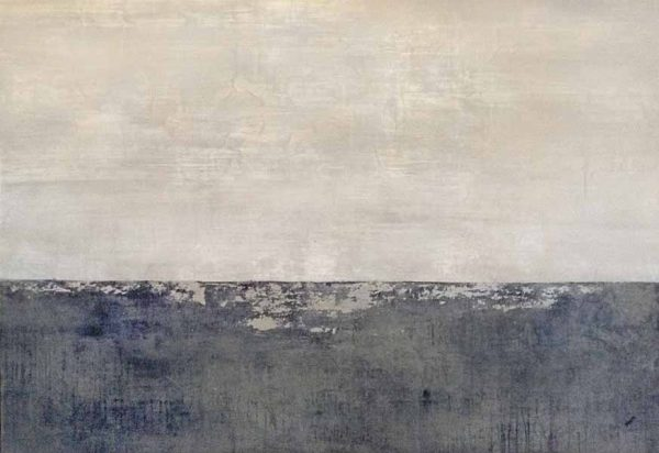 Kari Taylor painting of grey ocean and foggy sky