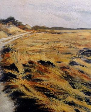 Patricia Busso painting of marshy landscape