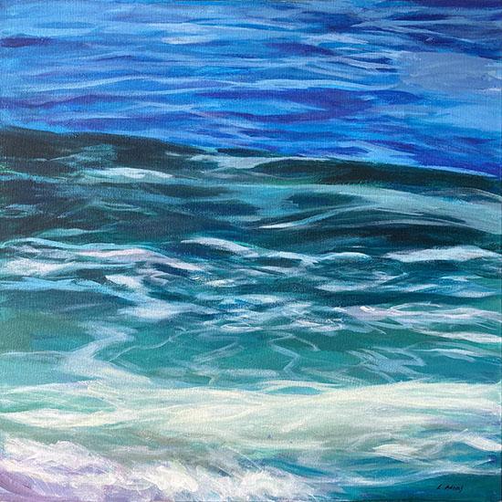 Lynne Adams painting of breaking ocean wave