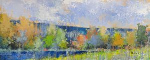 Jeff Koehn painting of field with trees
