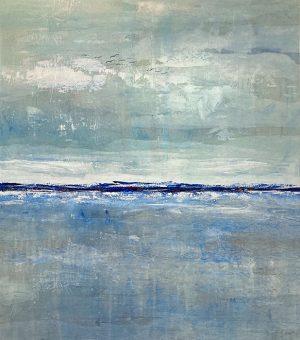 Karolina Vera Sussland painting of ocean and horizon with far away birds