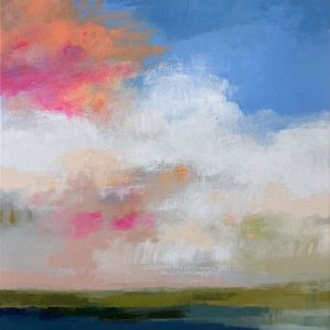 Carlyn Janus colorful abstract landscape with pink clouds