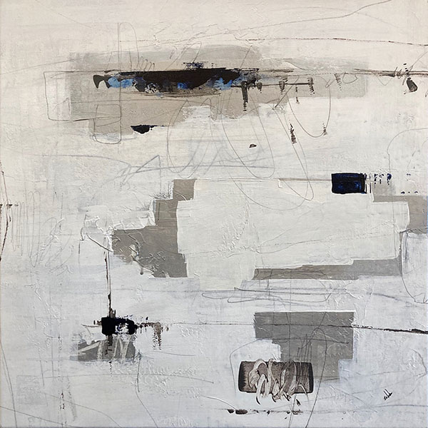 Joshua Schicker painting ultra modern monochromatic color swatches