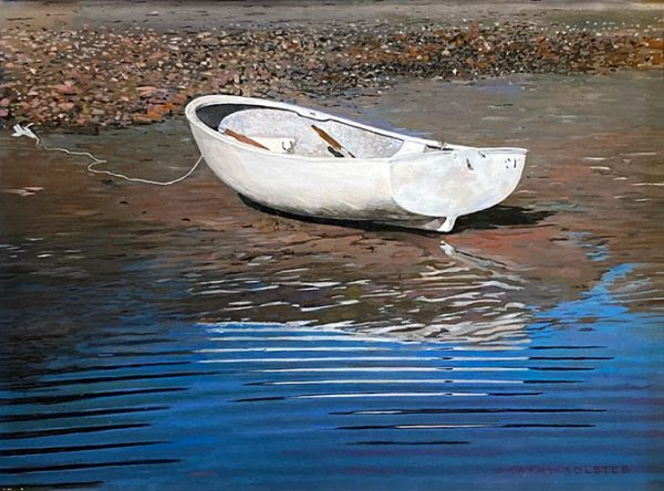 Robert Bolster painting of small beached boat