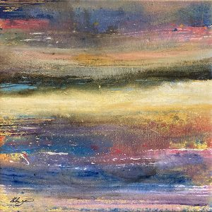 Helen Zarin painting of abstract horizontal color swatches