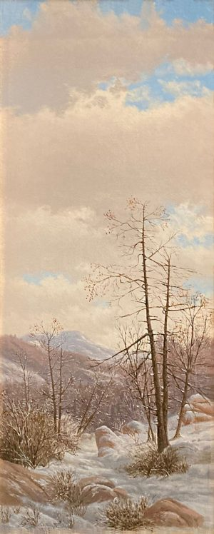 Charles Eaton painting of a forest in winter