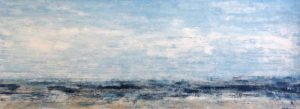 Leah Mitchell painting of seascape on sunny day with some clouds