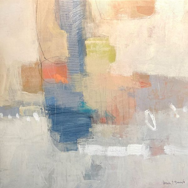 Ursula Brenner abstract painting with soft pastel colors