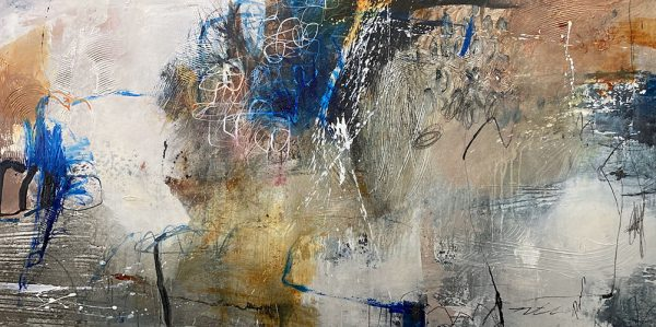 Natasha Barnes painting of abstract color swatches