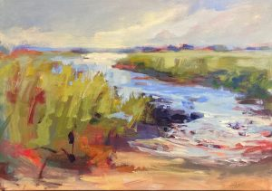 Trish Hurley painting of colorful marsh