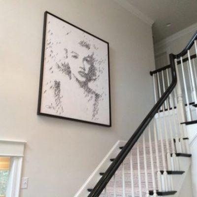 Craig Alan Marilyn Monroe Over Soaring Staircase
