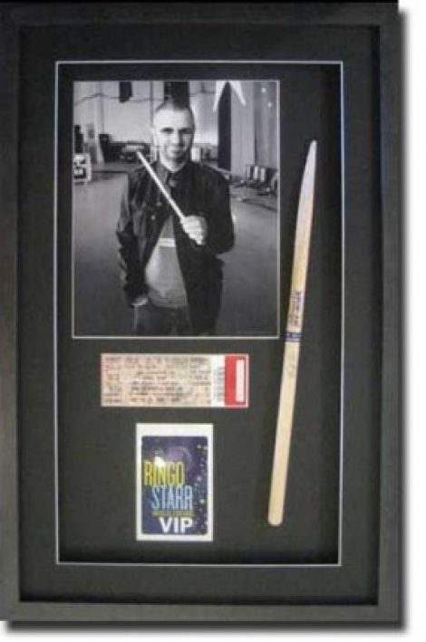 Ringo Starr Memorabilia Shadow Box